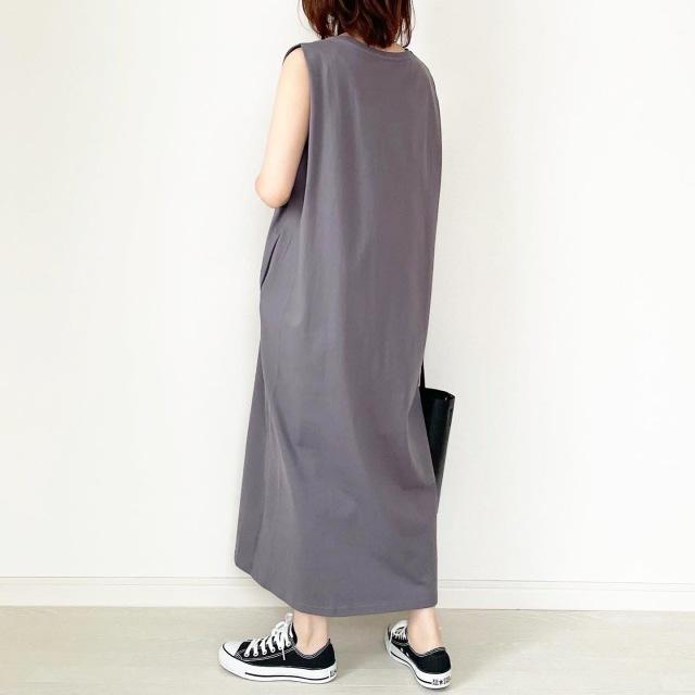 思わずイロチ買い!GU790円ワンピース【tomomiyuコーデ】_1_3