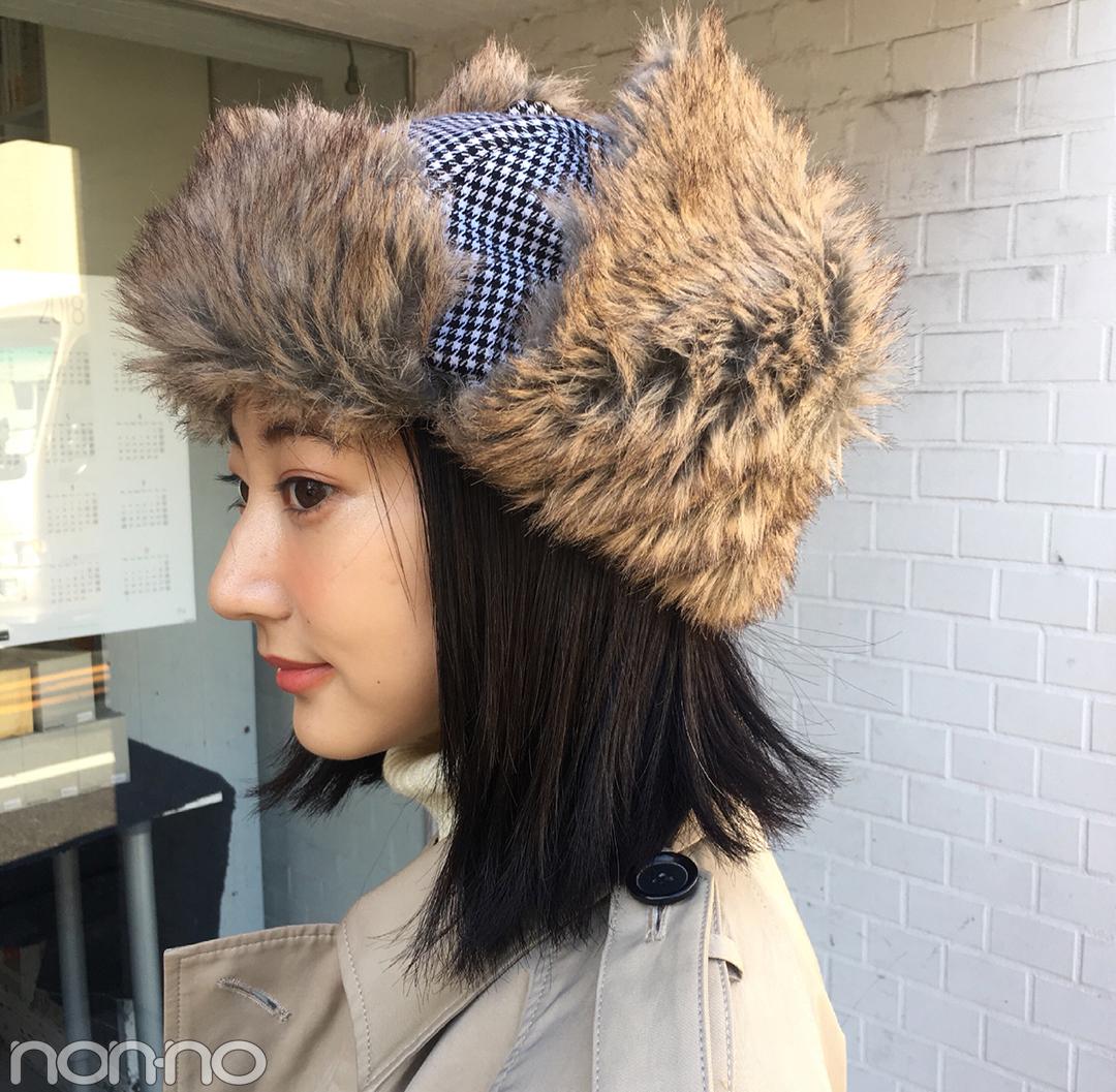 武田玲奈の冬コーデはアウラのコートにフライトキャップを合わせて【モデルの私服スナップ】_1_2-1