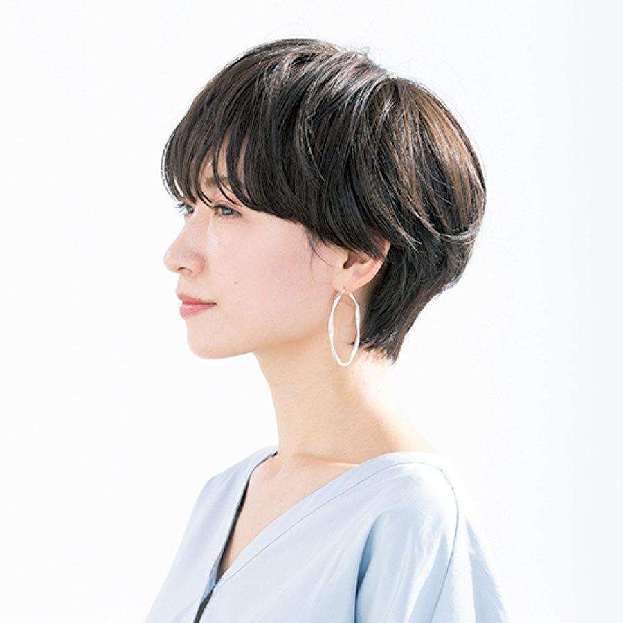 横から見た 40代人気ショートヘアスタイル7位の髪型