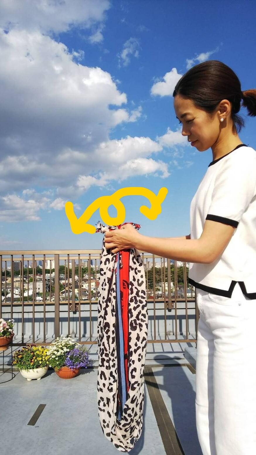 私の「春夏のストール」アレンジ ☆彡Part1  _1_2-1