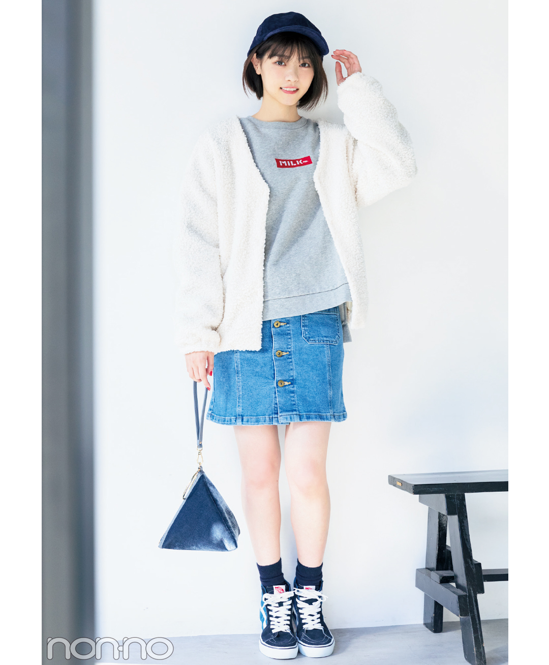ヘルシーなのにドキッ♡ 西野七瀬のミニスカート×スニーカーコーデ5選_1_1-5