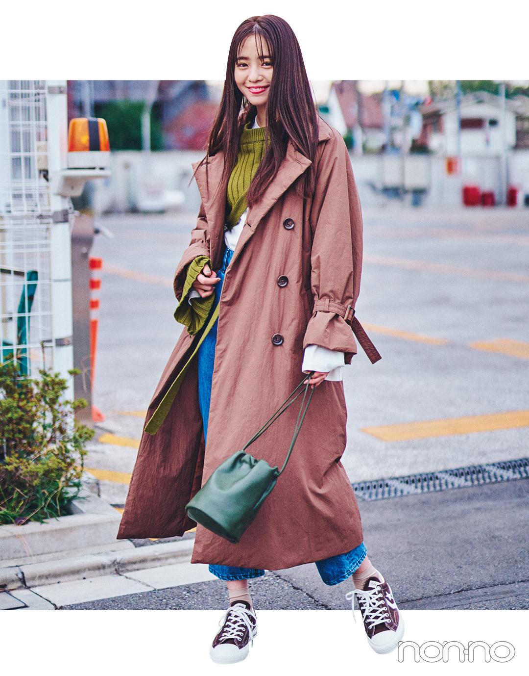 横田真悠の冬私服♡ 明るめカラー使いとあったかトレンチコートがポイント!_1_3