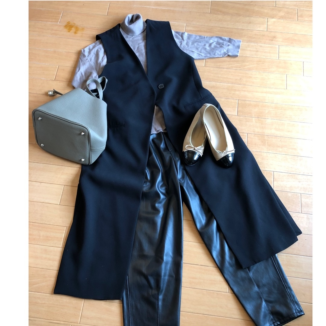 """ZARA leather pants"".でautumn fashion_1_3"