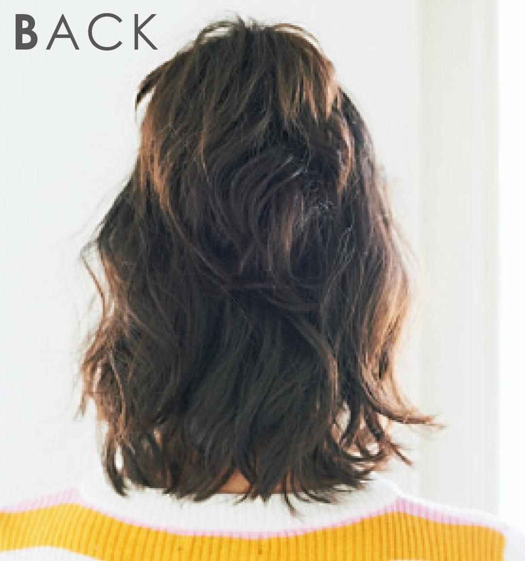 髪が少ない&ペタンコさんのヘアアレンジ★プチハーフアップで今っぽく!_1_3-2