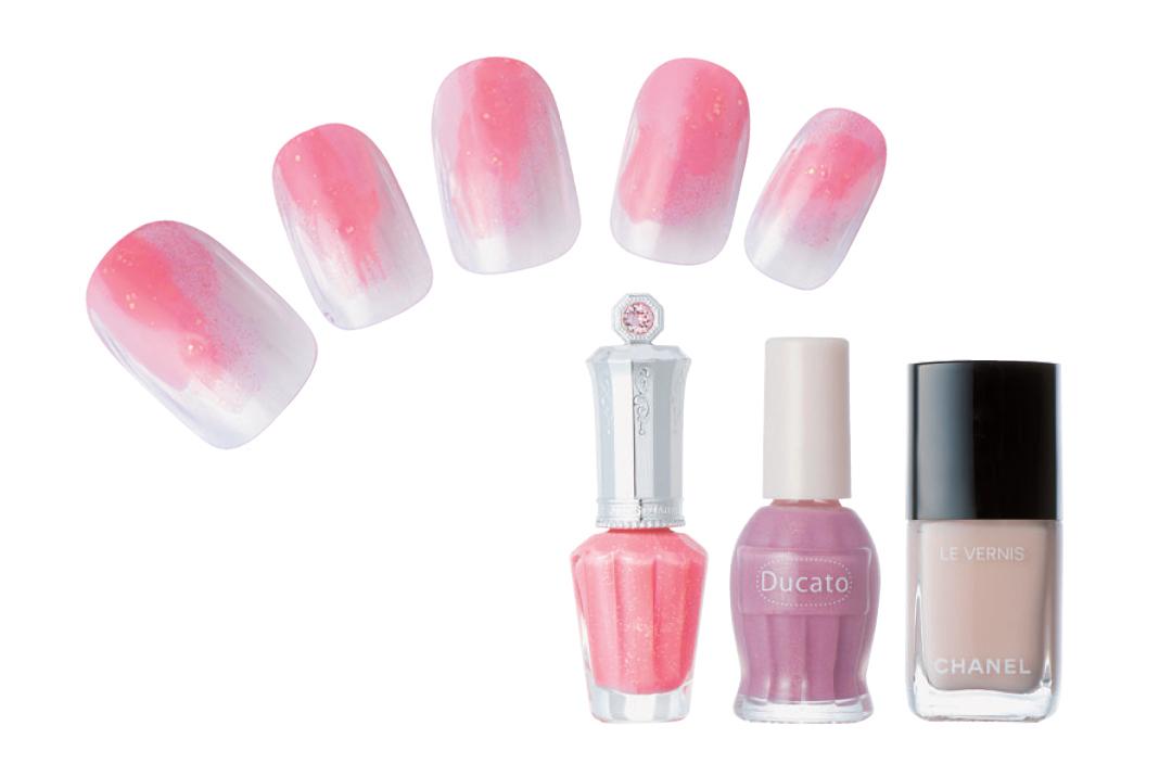 ピンクで優しく見られたい♡ 簡単なのに凝って見える春の好感ネイルデザイン3選!_1_2