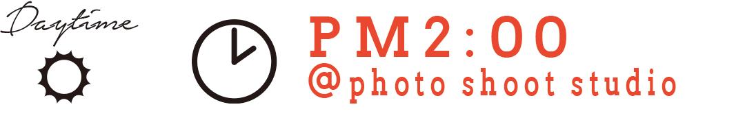 Daytime PM2:00 @photo shoot studio