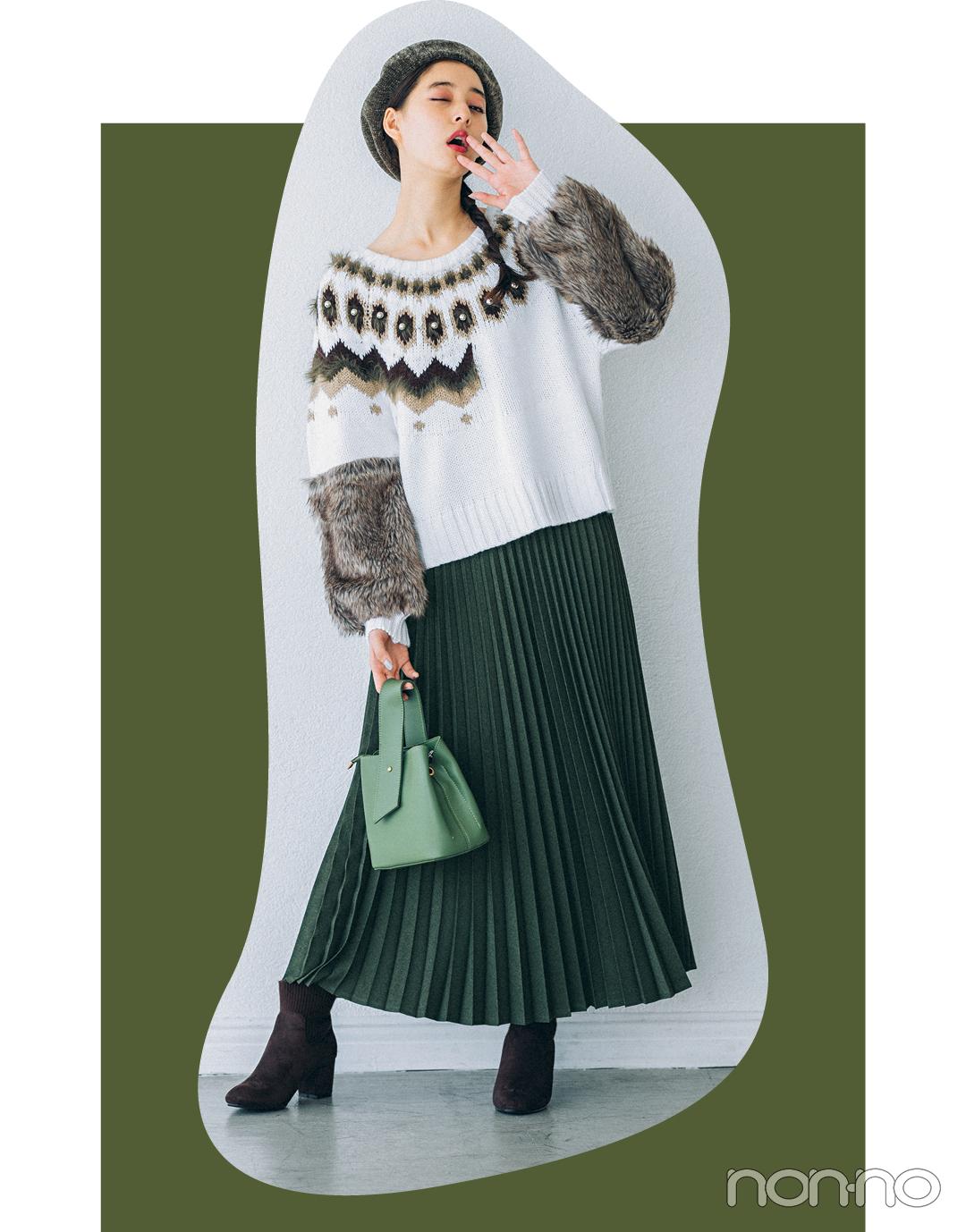 新木優子はミリタリーカーキをほんのり甘く♡ 4コーデを一気見!【今日のコーデはブラウン以外】_1_3
