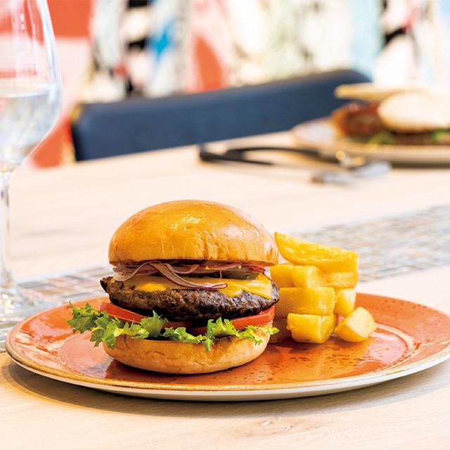 アロフト東京銀座 ザ・ウエアハウスのハンバーガー