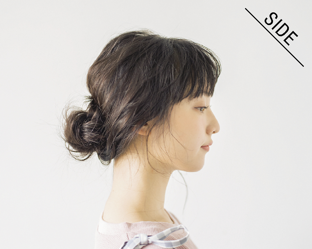 ロングの#彼女感なまとめ髪、ゆるっと低めおだんごでドキッとさせるHOWTO♡ _1_3-4