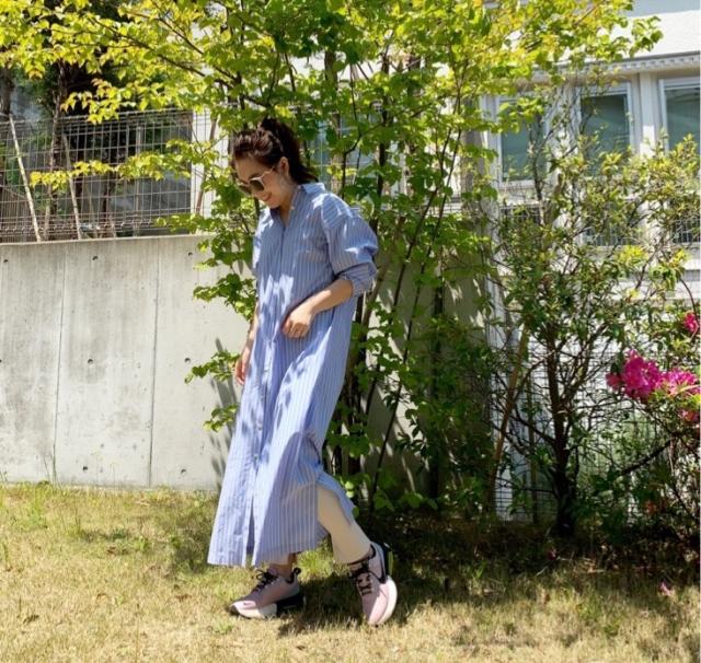 【STAY HOME】着用率高め!一枚で様になるシャツワンピース_1_1