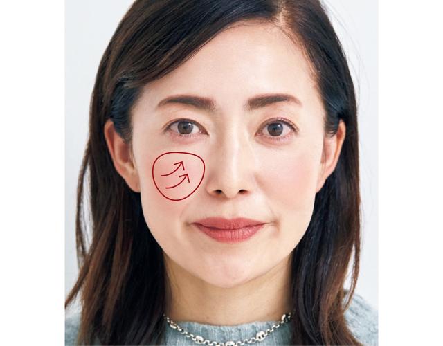 【形の錯覚メイクMAP】チーディングで【頰の形を変える】