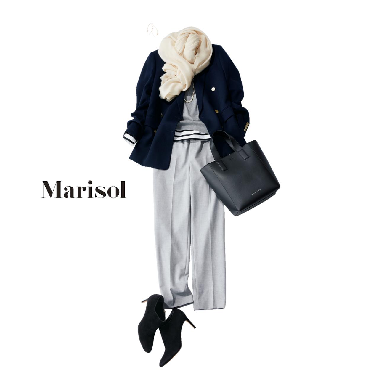 ファッション テーラードジャケット×パンツコーデ
