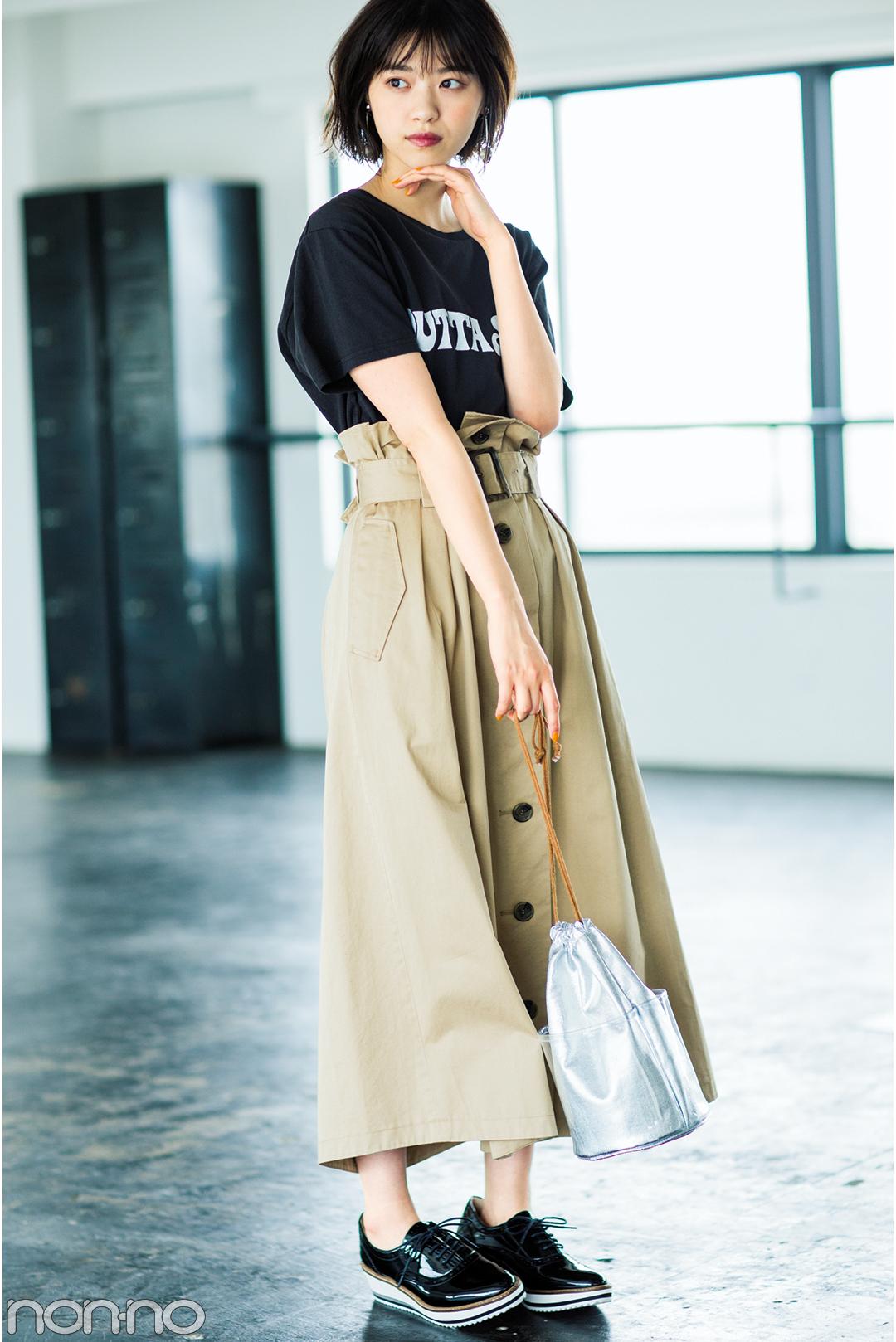 西野七瀬がお手本♡ 夏のロングスカートはカジュアルコーデが可愛い!_1_3-2