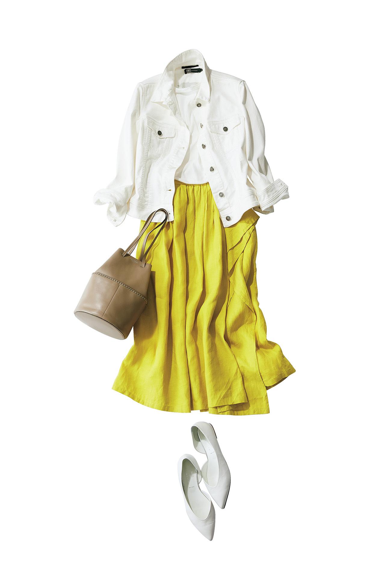 今年の大人カジュアルは「きれい色スカート×フラット靴」が新しい! 五選_1_1-3