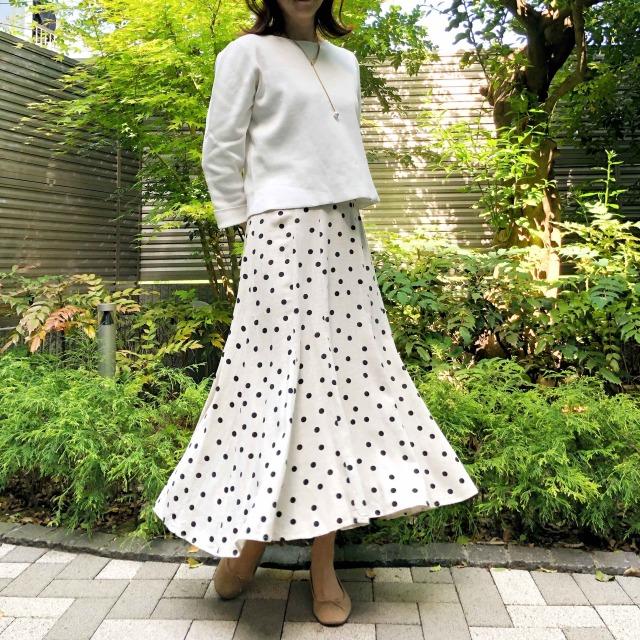 アラフォー向け「白✖️ベージュ」のプチプラミックスコーデ《ゆっこのファッション》_1_1