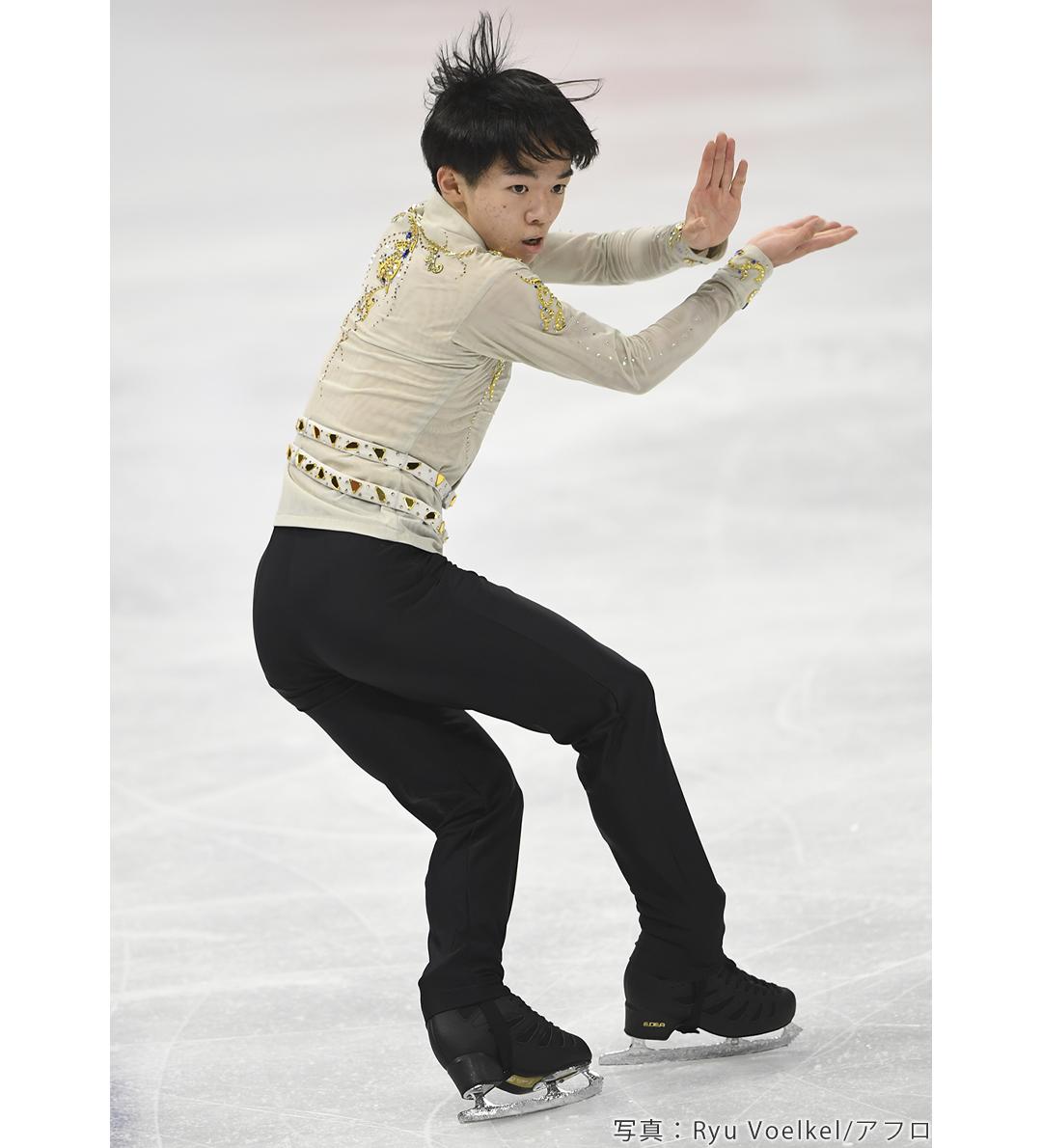 2020年世界選手権に出場したフィギュアスケートの鍵山優真選手
