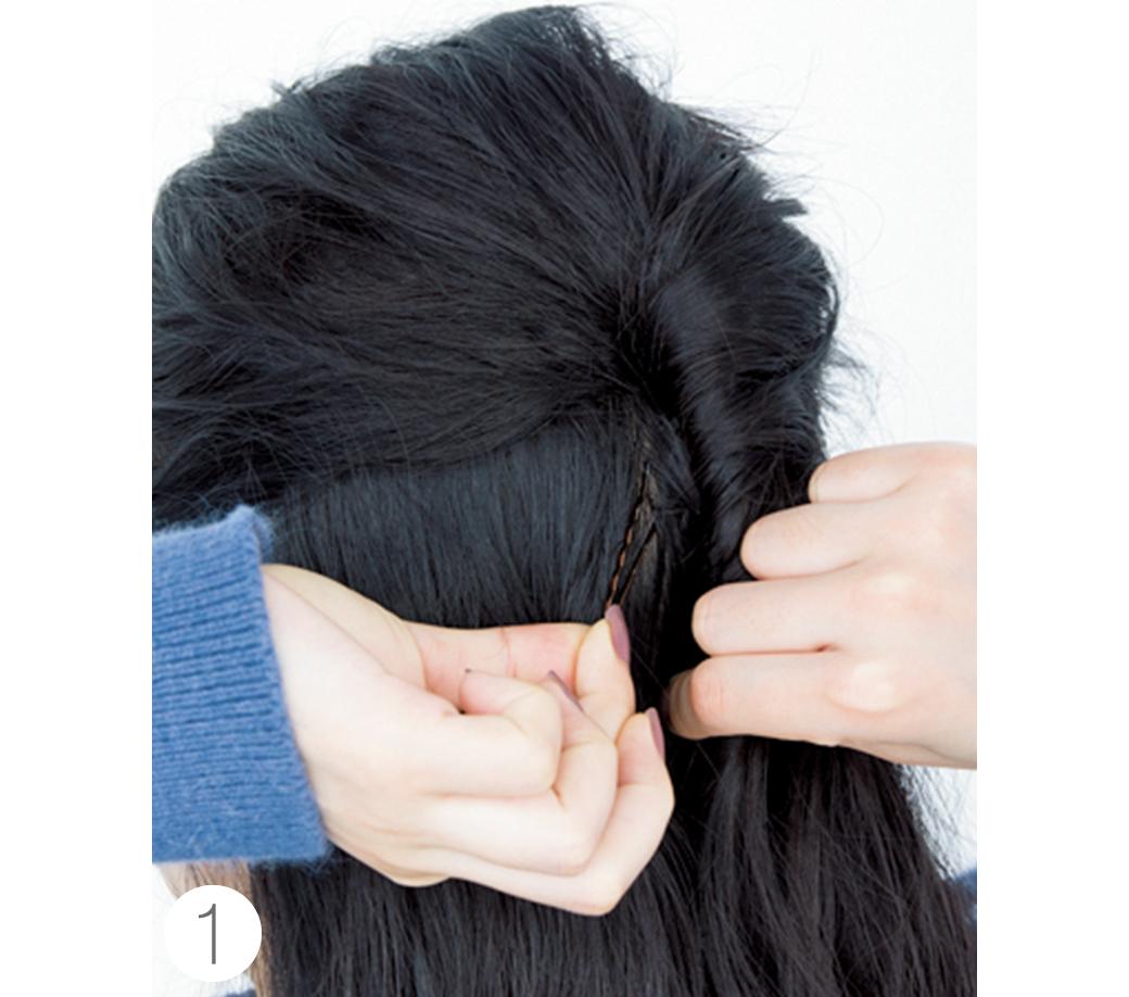ミディアムからOK★簡単なのに女子会でモテちゃうヘアアレンジはコレ!_1_3-1