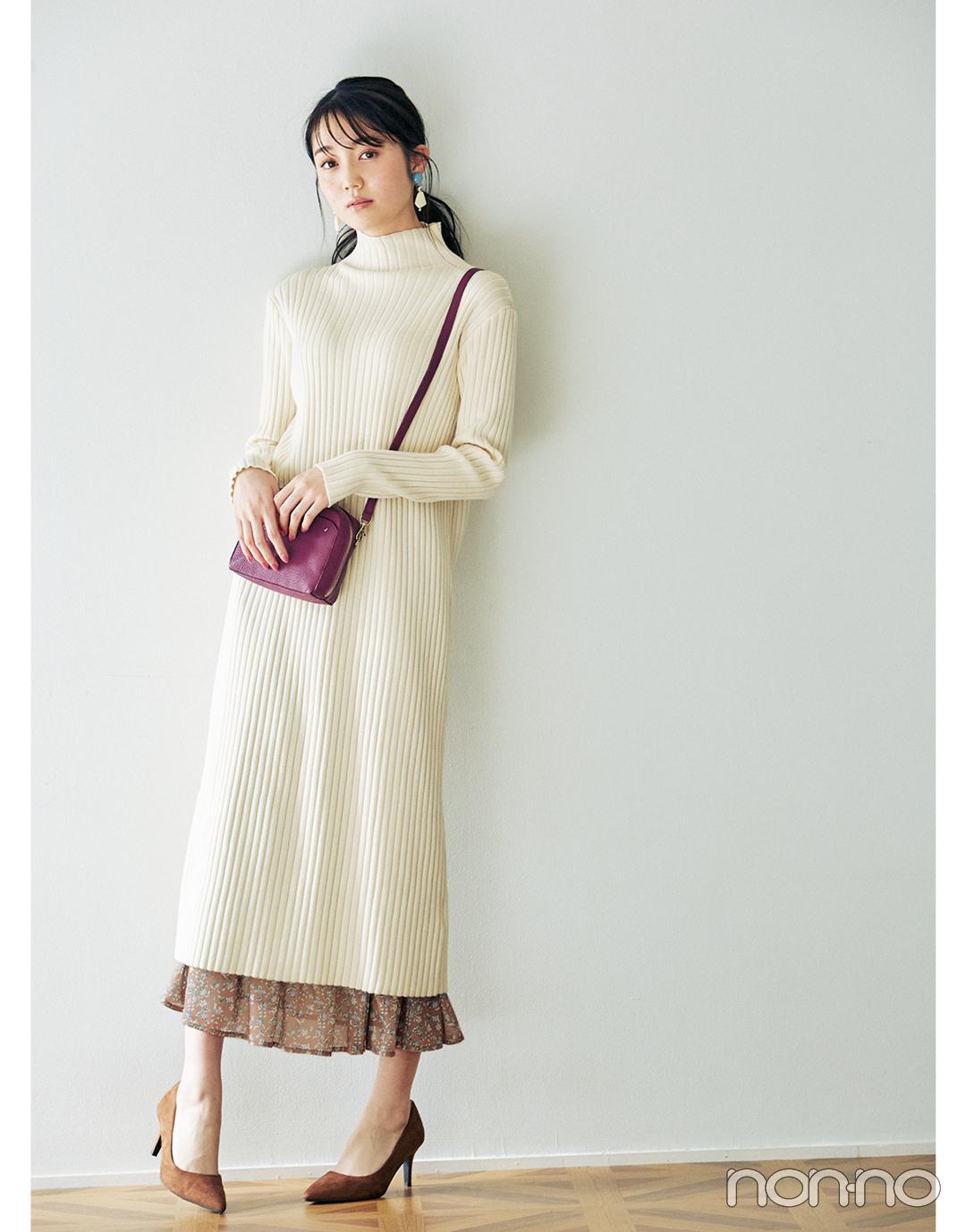 2月~3月の体感寒い日&暖かい日、小花柄スカートはこんなに使える!_1_7
