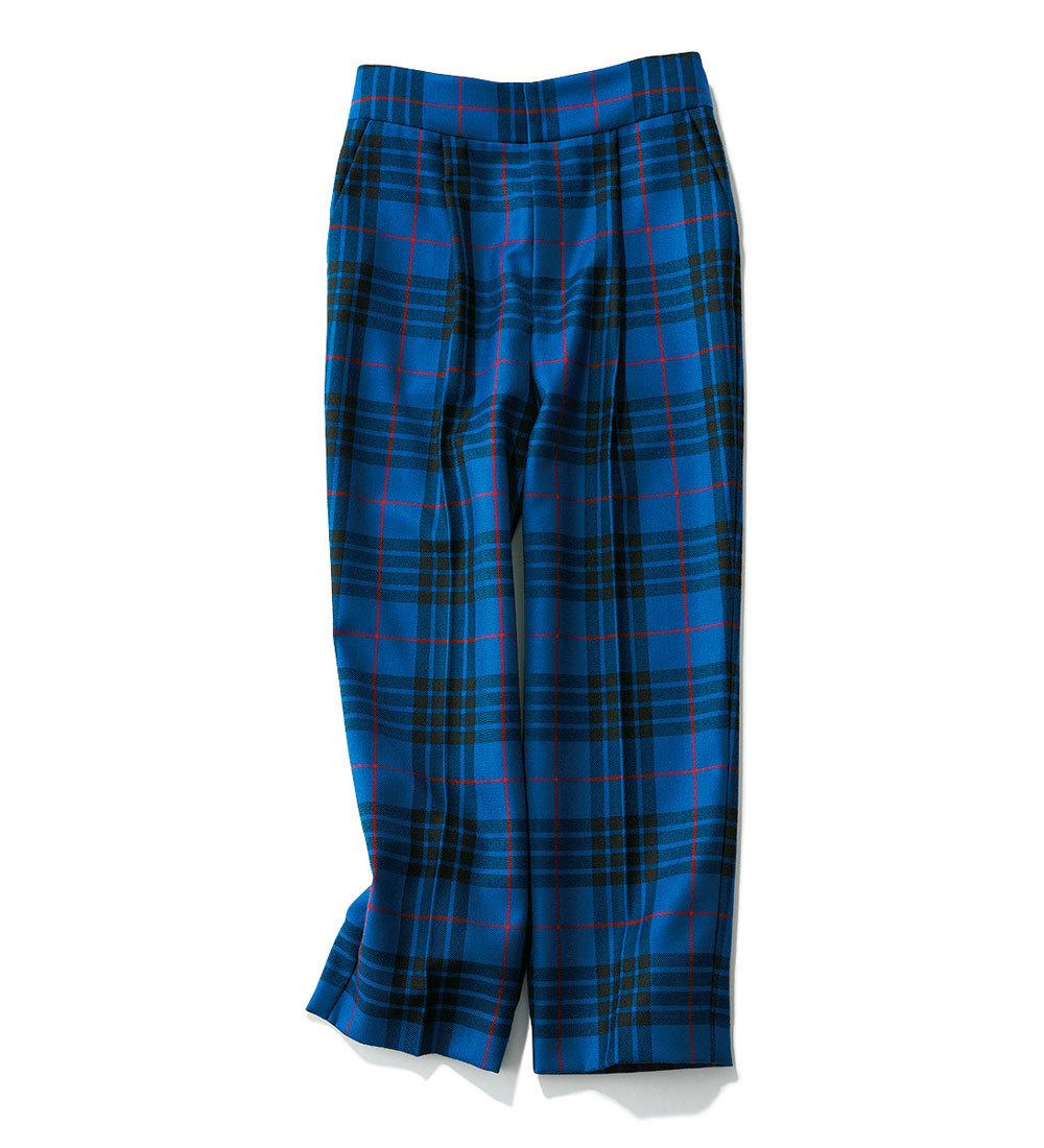 ファッション 秋トレンドのチェック柄パンツ