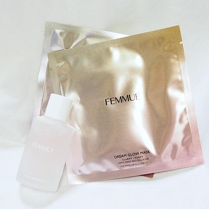 FEMMUEのブースター美容液とマスク