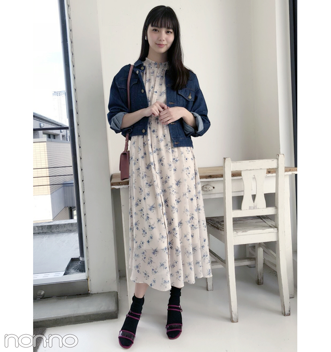 新川優愛は花柄ワンピをクリアサンダルで夏仕様に!【毎日コーデ】_1_1