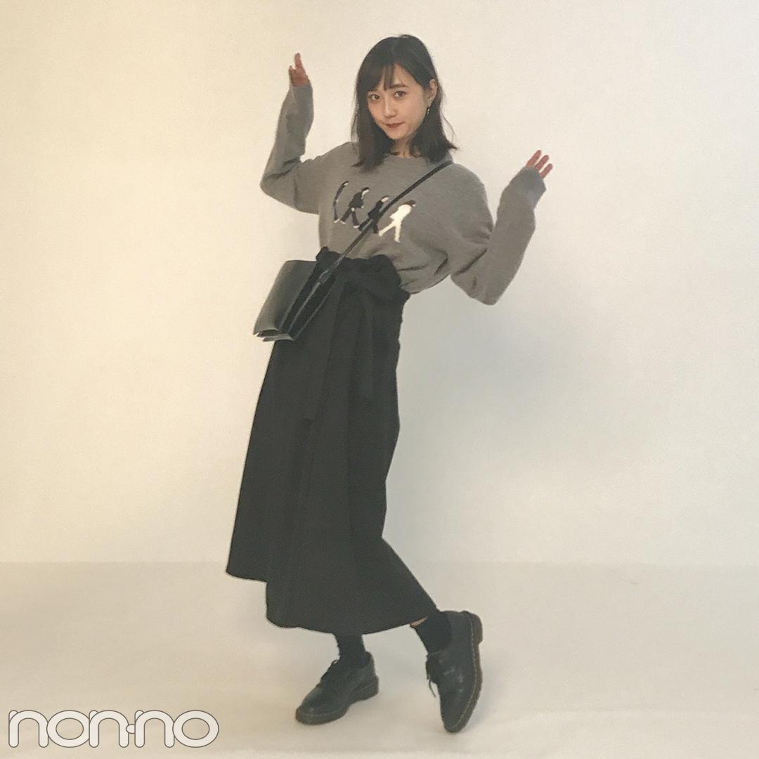 鈴木友菜の秋コーデが可愛い! ワイドスカートにニットをイン★【モデルの私服】_1_2-5