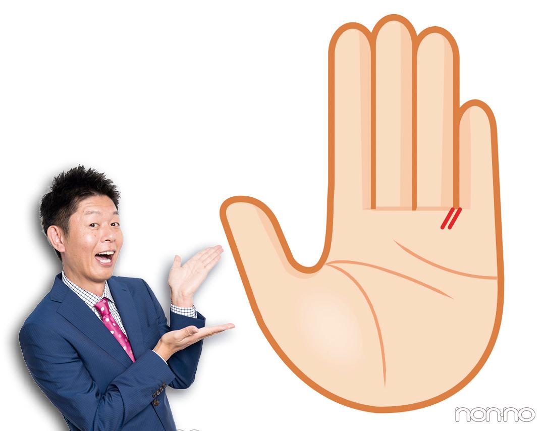 不思議ちゃん線|島田秀平さんの最強手相占い!