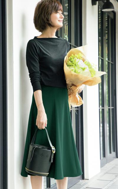 着まわし上手な「E by éclat」で富岡佳子の毎日素敵な10days_1_1-3