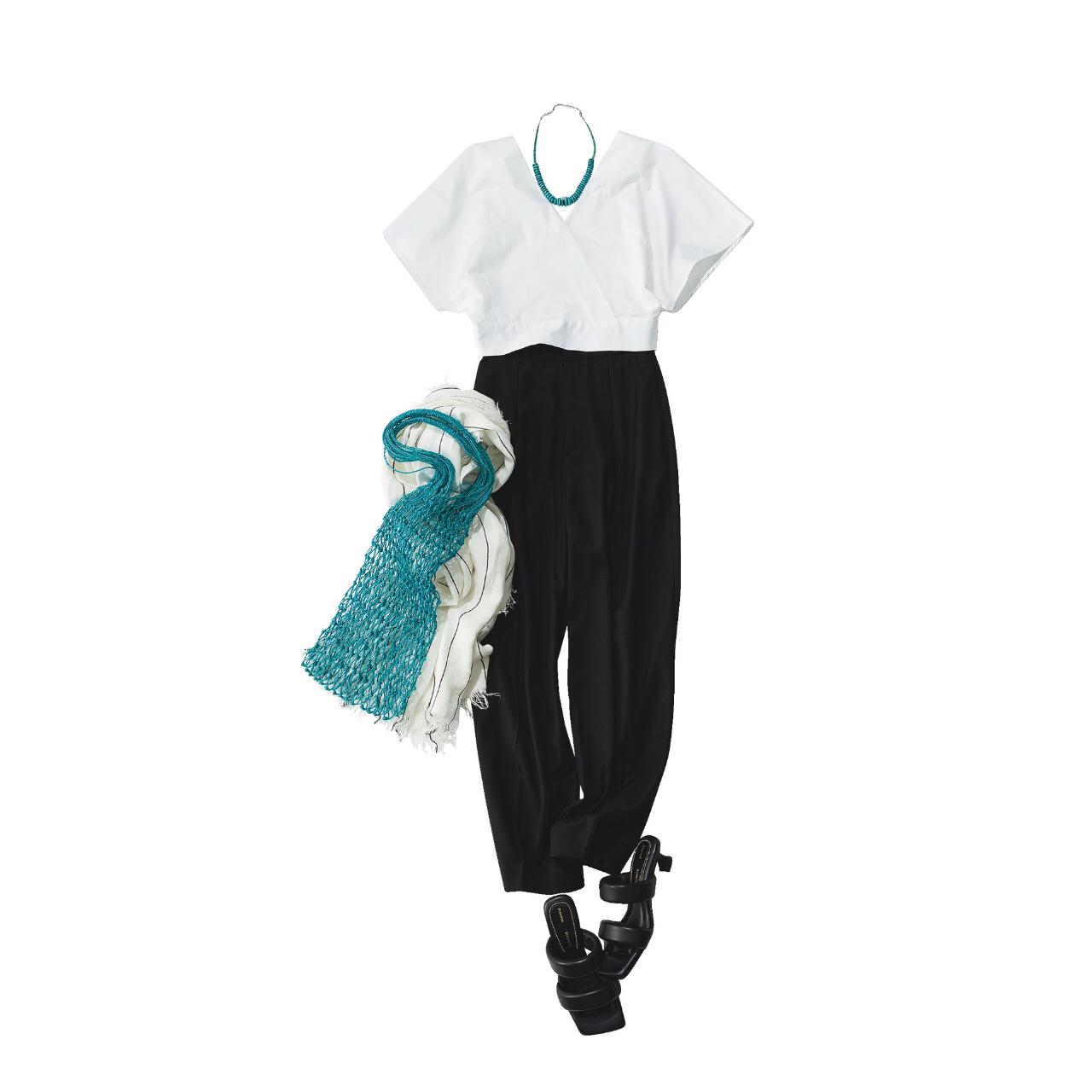 【真夏こそ映える黒コーデ】重たく見えず、シックに決まるアラフォーの黒コーデまとめ|40代ファッション_1_8