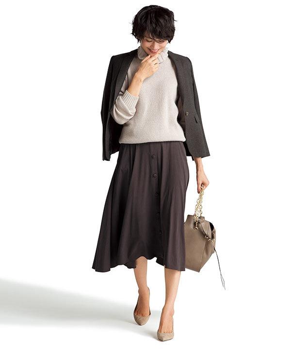 今年注目の色「ブラウン」!スカートを着回して実力を検証!_1_2-3
