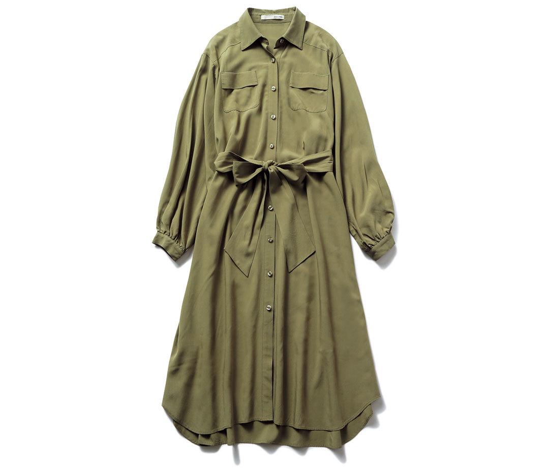 ノンノモデル新木優子の最旬カーキのシャツワンピ1×3着回し★_1_1