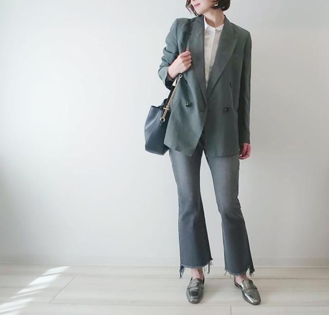 #ZARA のジャケットで春の大人ニュアンスカラーコーデ♡_1_5