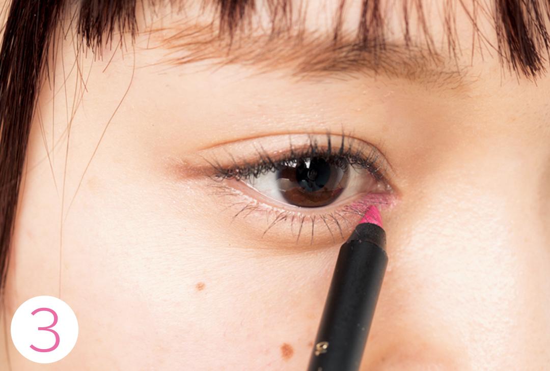ピンクのインラインでこんなにウブ見え!#彼女感アイメイクはこう作る♡ _1_6