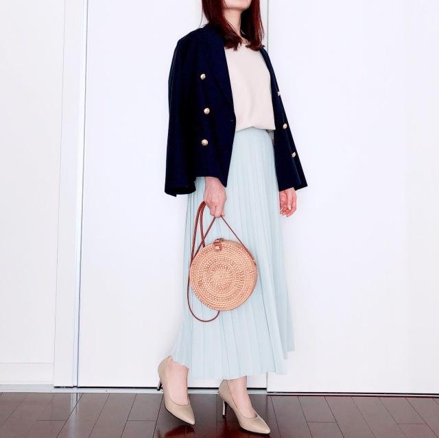 UNIQLOプリーツスカートで春爛漫【tomomiyuの毎日コーデ】_1_5