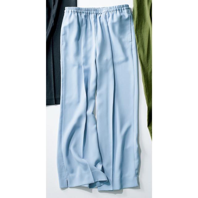 エルーラのとろみ素材パンツ
