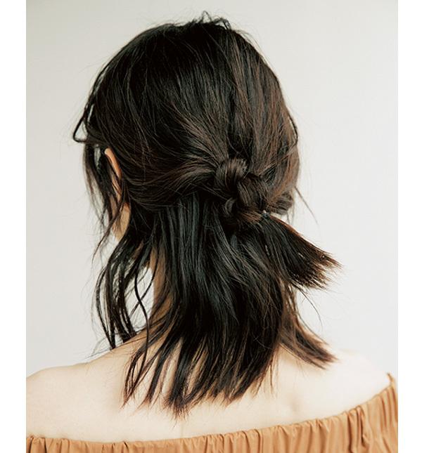 学生風にならないこなれハーフアップの作り方【40代のヘアアレンジ】_1_2-4