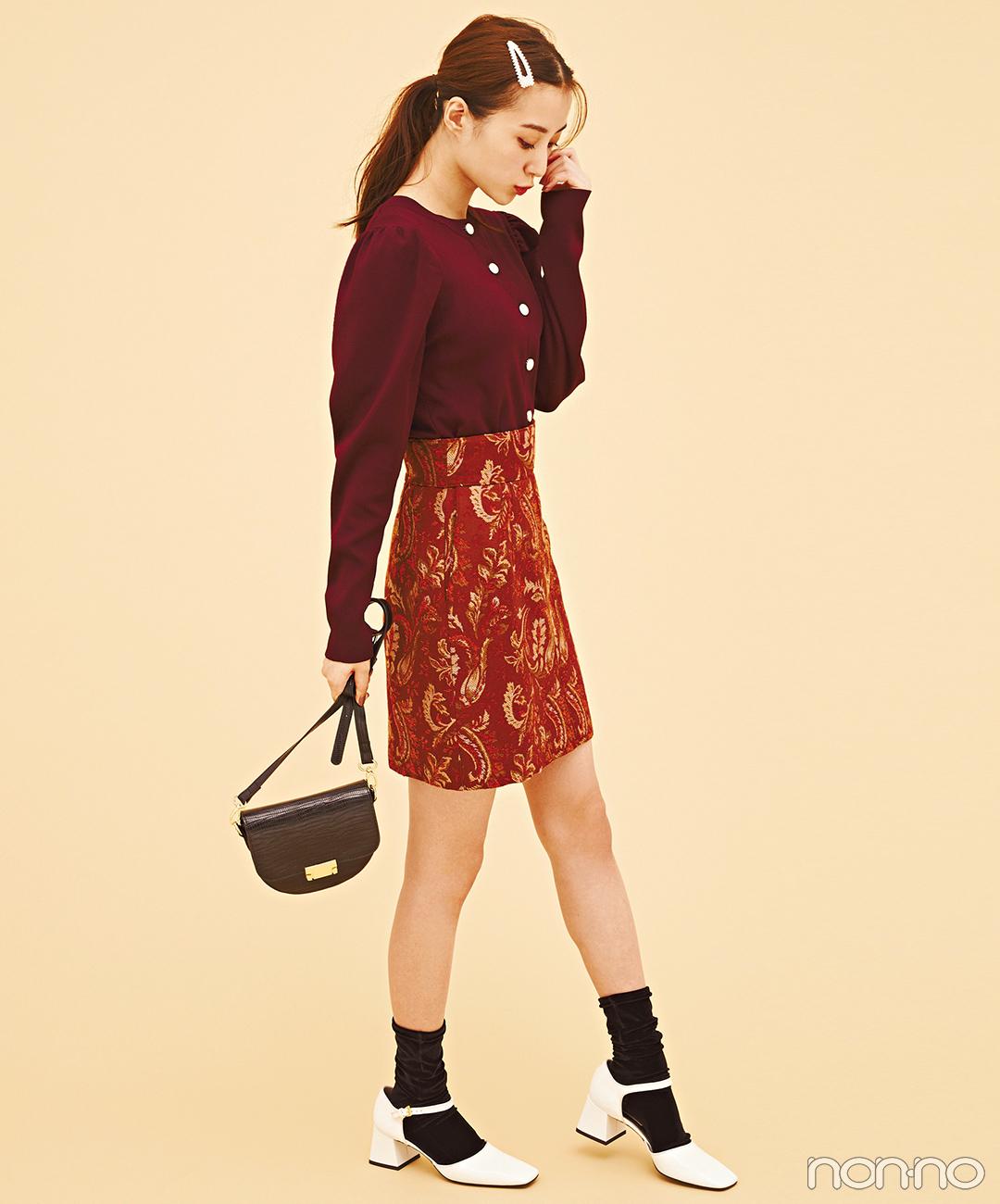 ヴィンテージ風のミニスカートで秋のレディコーデをアップデート【毎日コーデ】