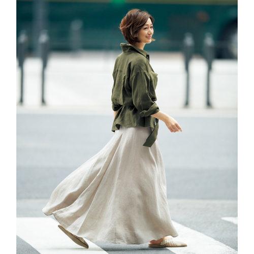 E by eclat リネンシャツジャケット ¥20,000+税