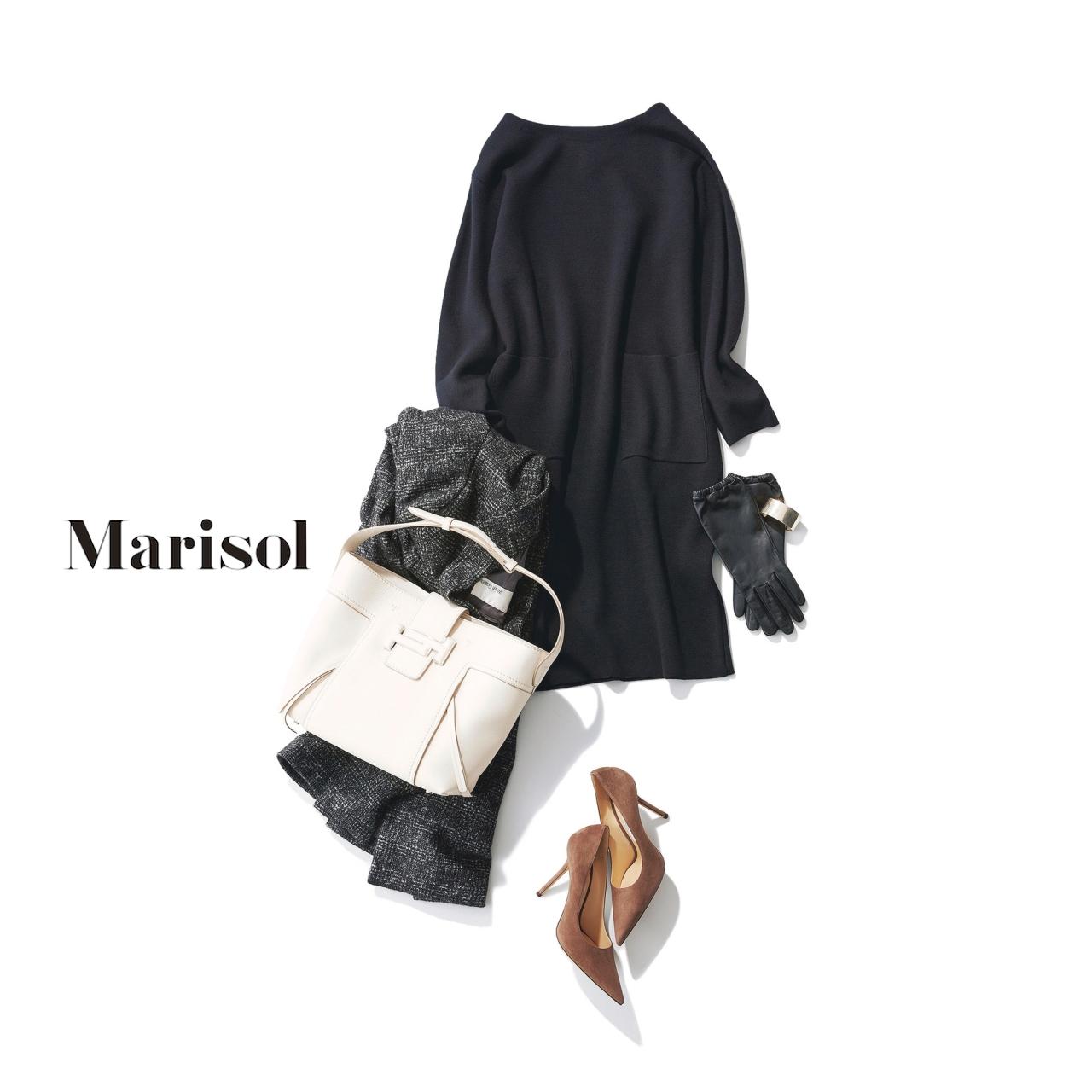 40代ファッション ネイビーワンピースコーデ