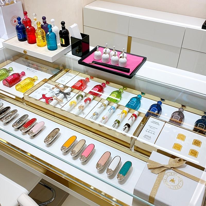 ラブティックゲランGINZASIXの店頭では香水のパーソナライズができるサービスも