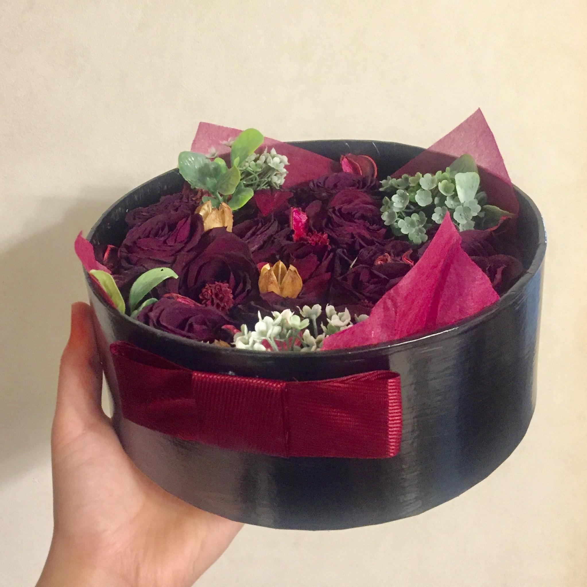 花束をそのまま!『ドライフラワーボックス』の作り方!_1_7