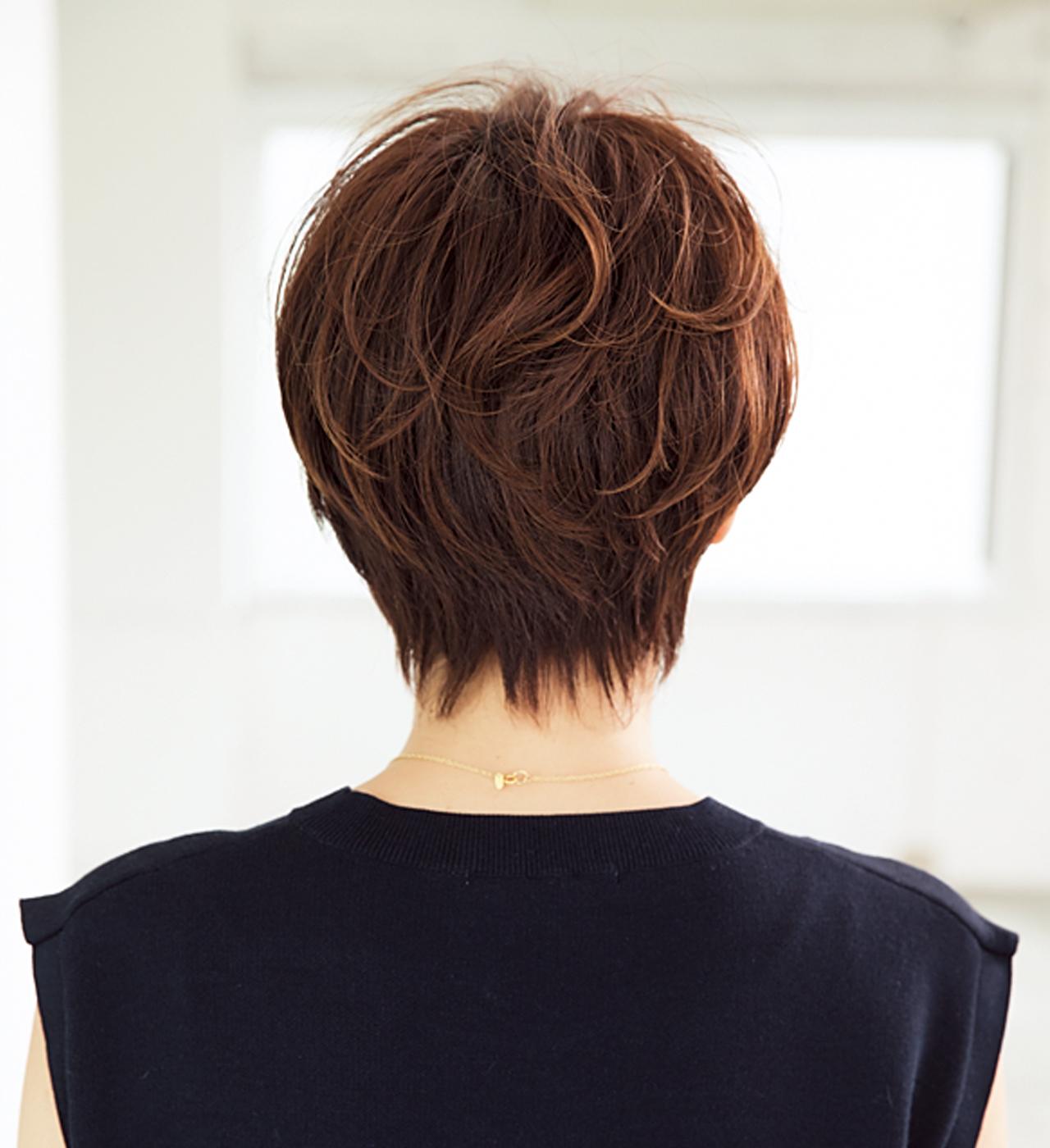 小顔効果のある「ひし形」フォルムはショートヘアの鉄板【40代のショートヘア】_1_3