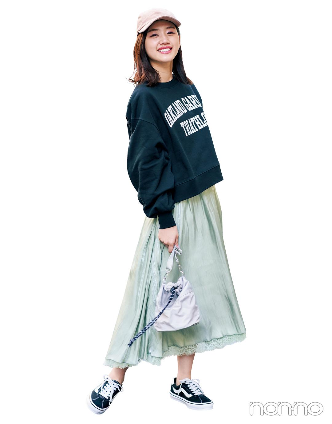 【大学生のための着倒しアイテム】スカートはこの素材感で今っぽく♡ _1_4