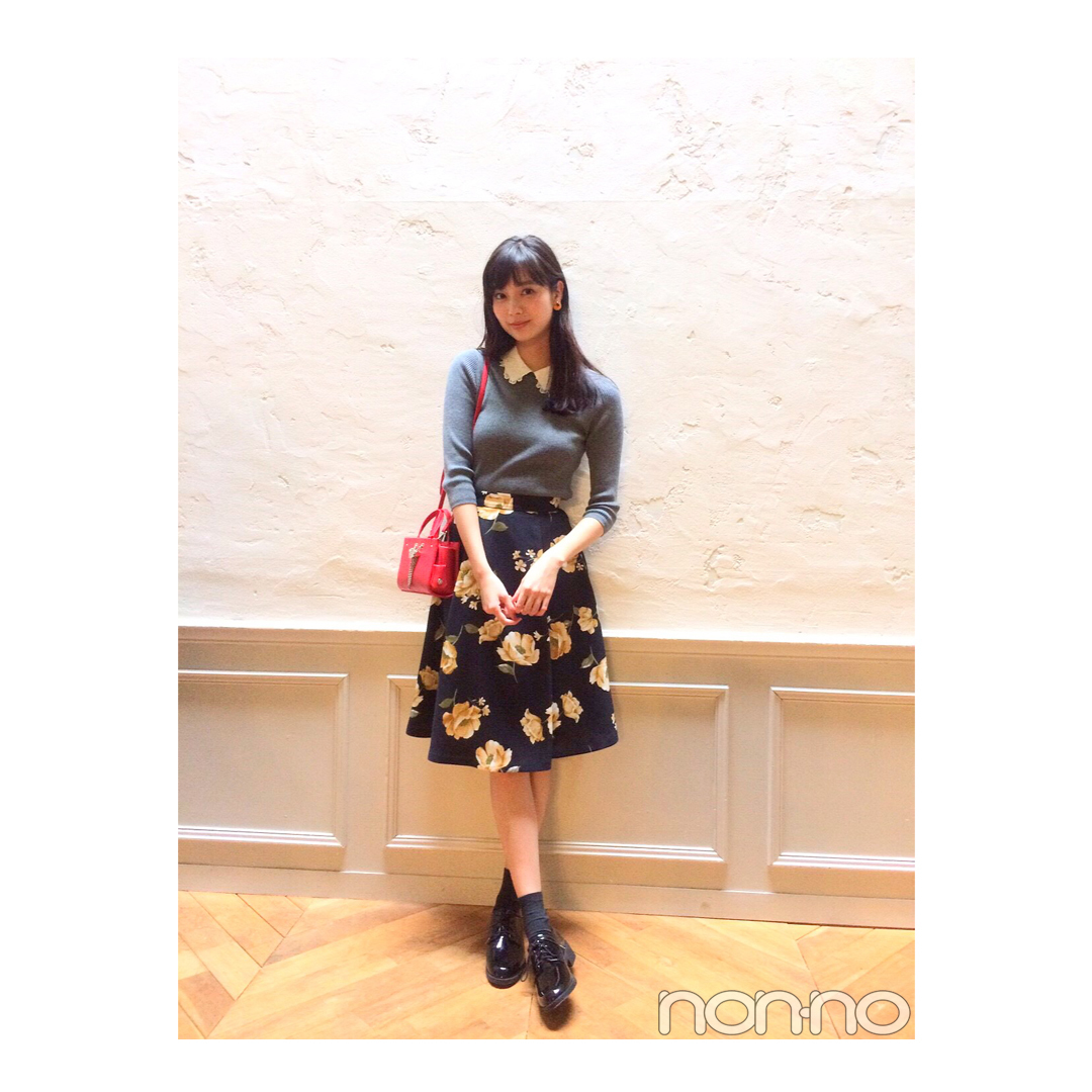 新川優愛のお嬢様気分な花柄スカートスタイル【毎日コーデ】_1_1