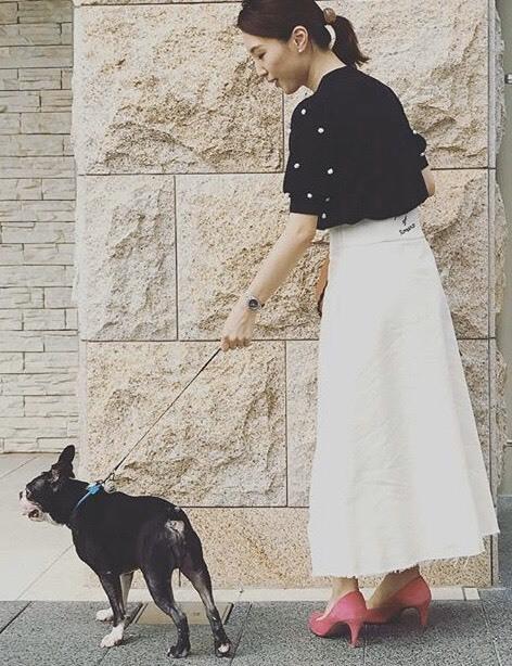 私の「フェミニンスイッチ」白デニムのロングスカート_1_3-2
