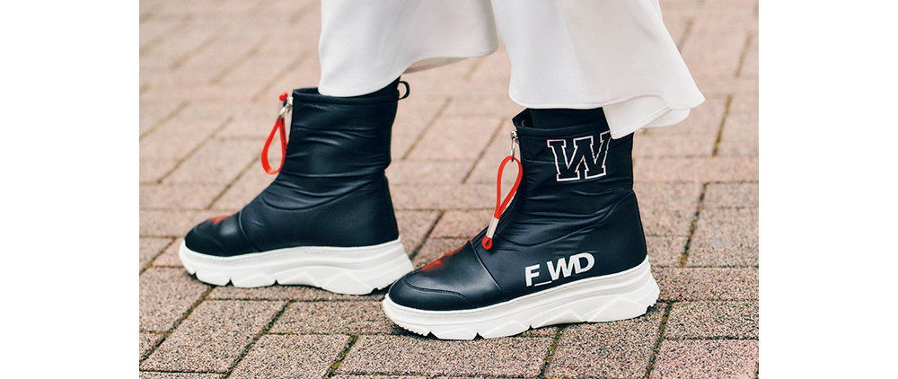 F_WDのスニーカーライクなショートブーツ
