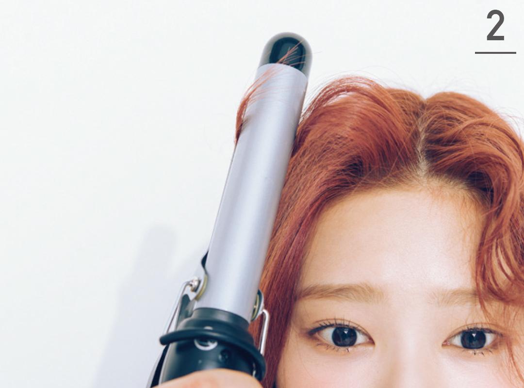 IZ*ONEの前髪アレンジ★ ミンジュがカールアイロンで前髪巻きを公開!_1_4-2