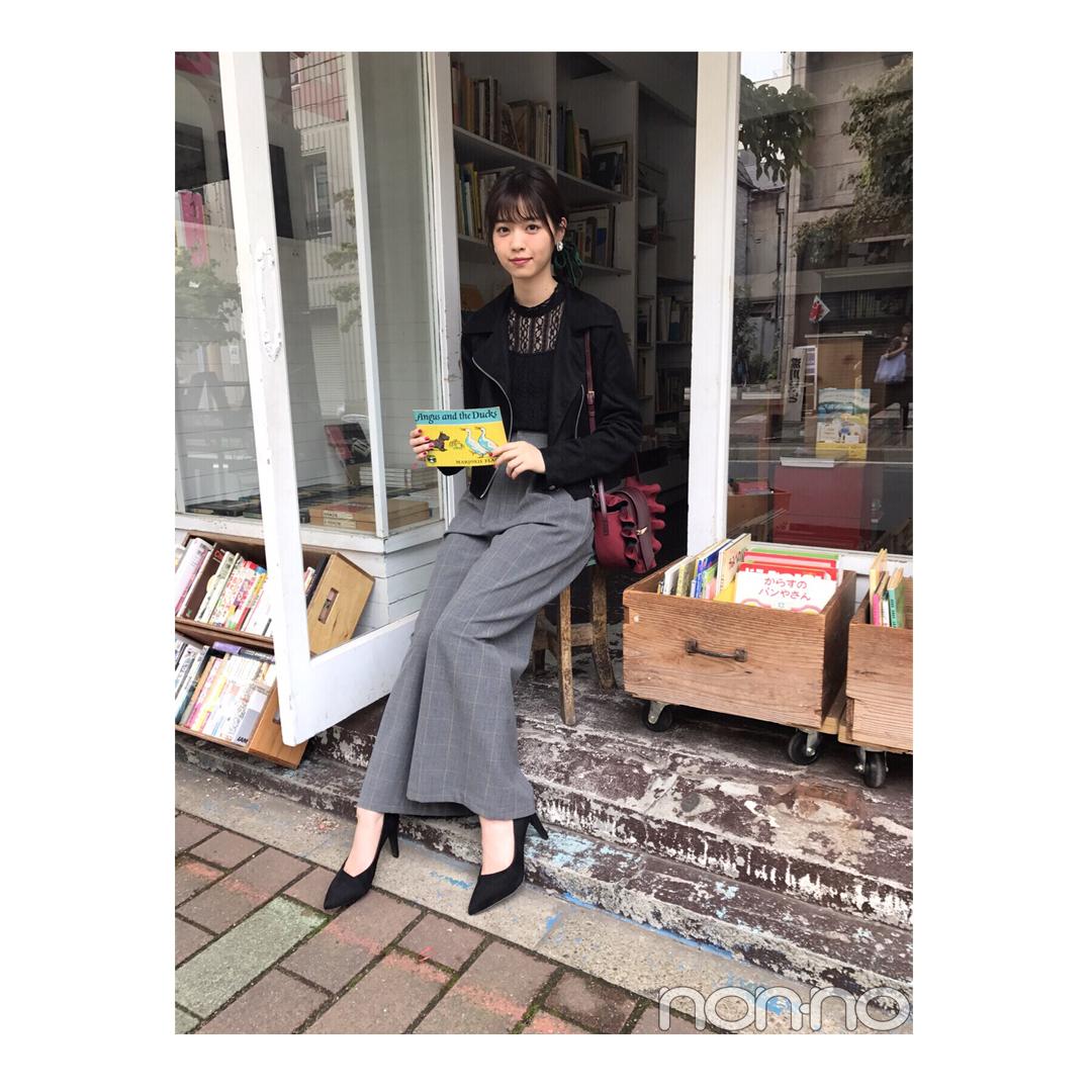 西野七瀬のライダースJK×グレンチェックパンツコーデが今っぽい!【毎日コーデ】_1_1