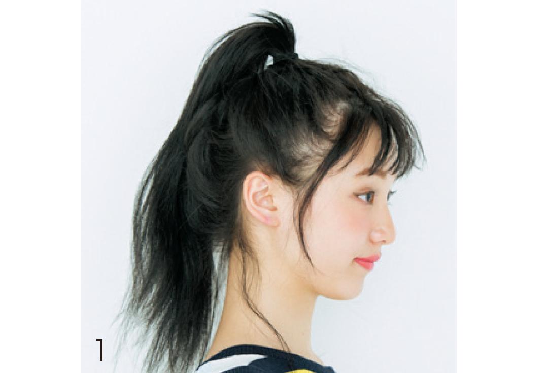 高めおだんご×透け前髪で、黒髪の今っぽヘアアレンジが完成!_1_3-1