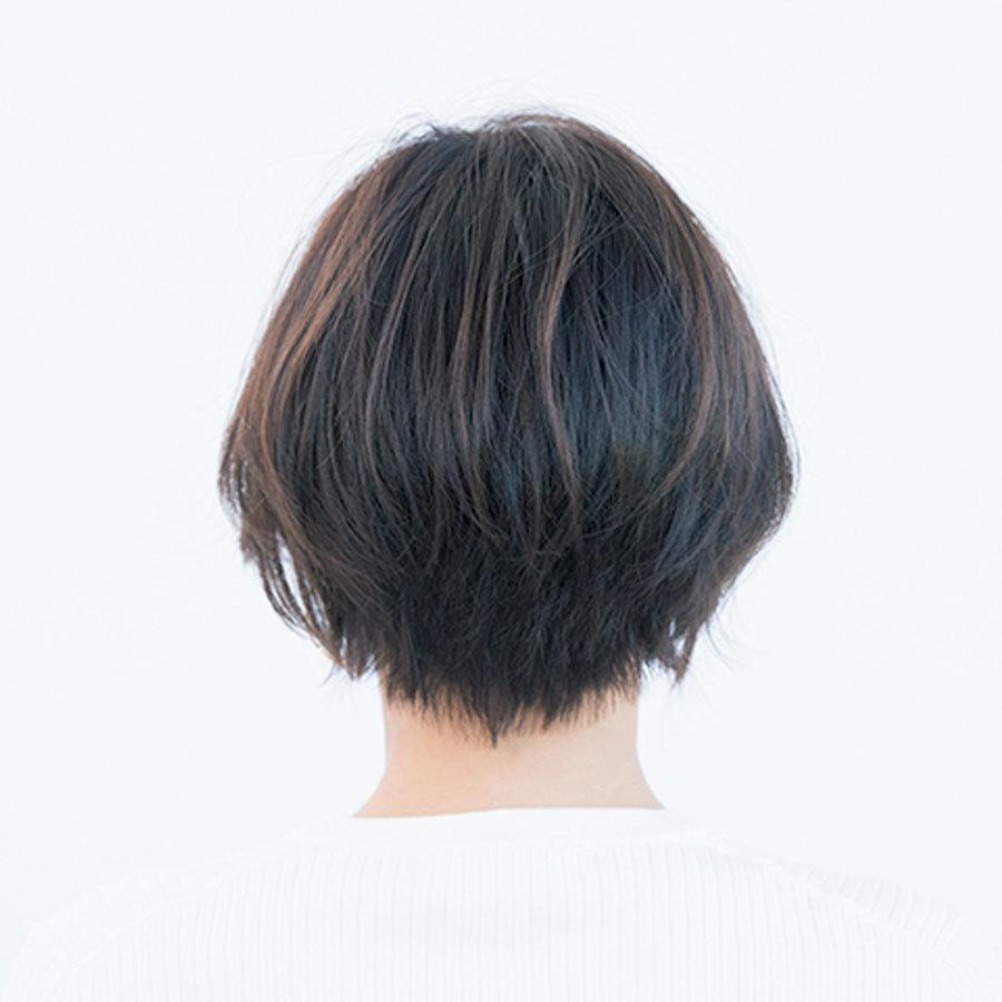 ボリュームゾーンを上げて小顔効果のあるコンパクトショート【40代のショートヘア】_1_1-3